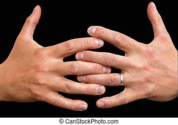 saisir, mains