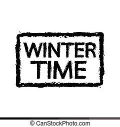 saison, conception, hiver, illustration, temps