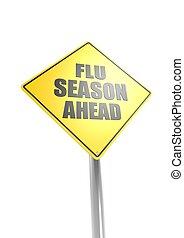 saison, devant, grippe