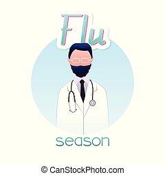 saison, grippe, docteur