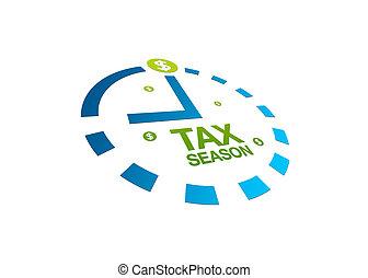 saison, impôt, perspective