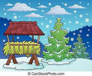 saison, thème, 2, hiver, image