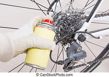 saison, vélo, préparer, nouveau