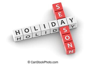 saison, vacances, buzzwords:
