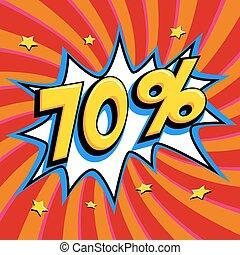 saisonnier, art, vendredi, escomptes, forme, comique, pop-art, toile, style, banner., tordu, arrière-plan., noir, intérêt, rouges, grand, escompte, coup, pop, 70, fermé, comiques, taux, vente, promotion, etc.