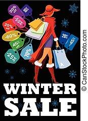 saisonnier, hiver, vente