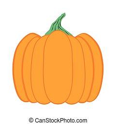 saisonnier, nuit sorcières citrouille, icône, fruit