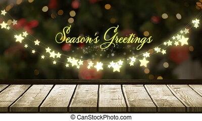 saisons, lumières, incandescent, fée, salutations