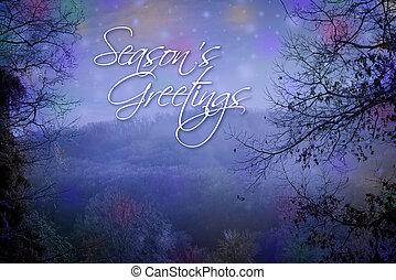 saisons, salutations, carte