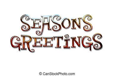 saisons, salutations, lettrage