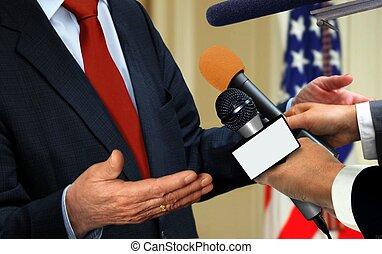 sajtó, interjú