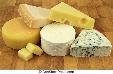 sajtok, különféle