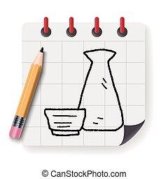 sake doodle