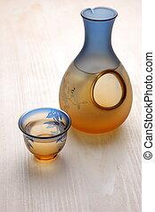SAKE - studio shot of Japanese traditional liquor