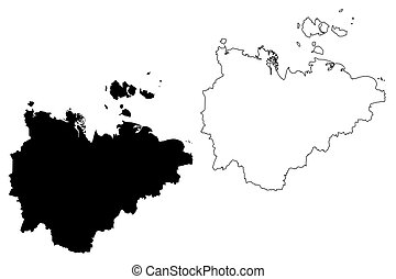 Sakha (Russia, Subjects of the Russian Federation, Republics of Russia) map vector illustration, scribble sketch Sakha (Yakutia) Republic map