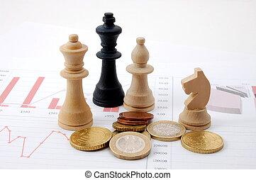 sakkjáték, ember, felett, ügy, diagram