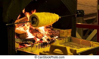 Sakotis or raguolis, tree cake or branchy pastry,...