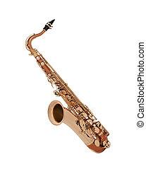 saksofon, odizolowany