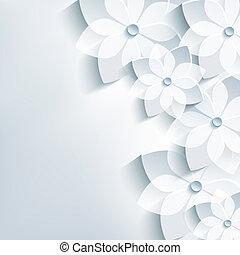 sakura, 抽象的, 花, 花, 最新流行である, 背景, 3d