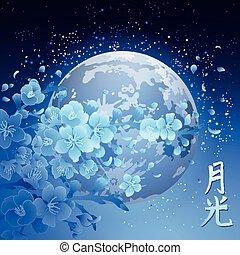 sakura, 月