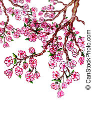 Sakura Branch Painting