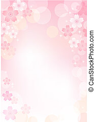 Sakura Cherry blossom background. Transparency, Gradients, Gradation mesh, and Clipping mask used.