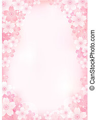 Sakura Cherry blossom background. Transparency, Gradients, Gradation mesh, and Clipping mask used. EPS10.