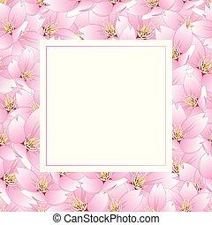 Sakura Cherry Blossom Banner Card - Prunus serrulata -...