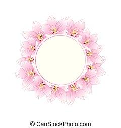 Sakura Cherry Blossom Banner Wreath - Prunus serrulata -...