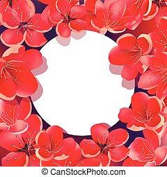 Sakura Floral Background with frame.