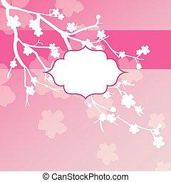 Sakura flowers card