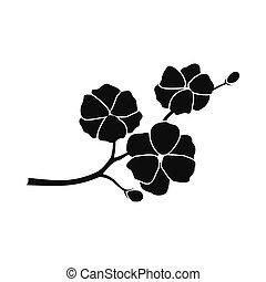 Sakura icon, simple style