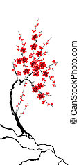 Sakura illustration - Vector illustration of a sakura in...