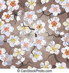 Sakura seamless pattern. EPS 10 vector illustration