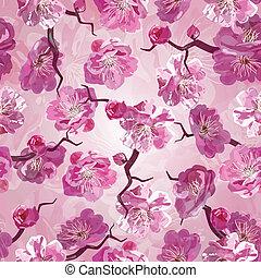 Sakura seamless pattern