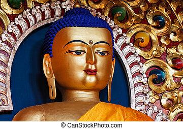 Sakyamuni Buddha statue in Buddhist temple