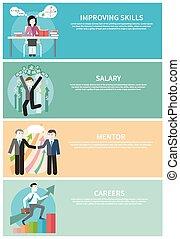 salário, habilidades, conceito, carreiras, mentor, melhorar