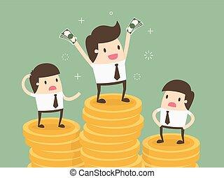 salário, variação