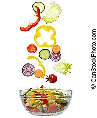 saláta növényi, diéta táplálék