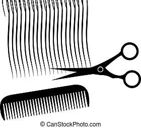salão cabelo, desenho