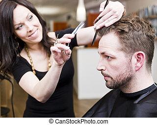 salão cabelo, situação