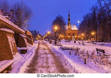 salão cidade velho, de, gdansk