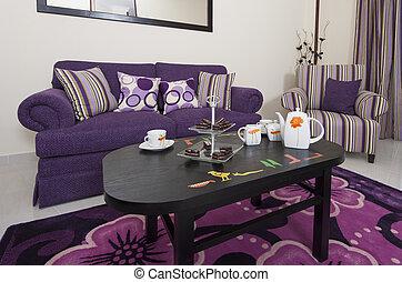 salón, apartamento, lujo