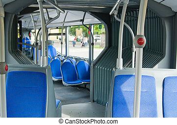 salón, contemporáneo, autobús ciudad