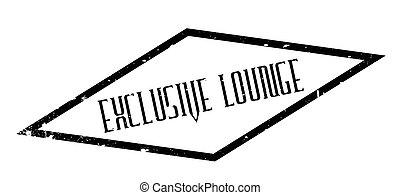 salón, exclusivo, sello de goma