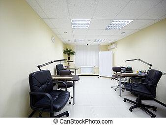 salón, trabajando, lugares, belleza, dos, manicura,...
