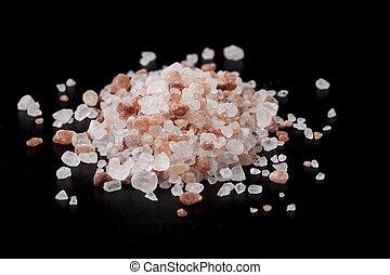 Sal Crystals on Black