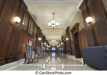 sala audiências, lobby