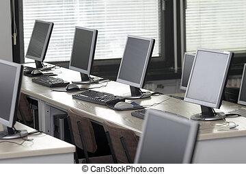 sala aula computador, 2