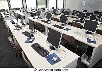 sala aula, computador, 4